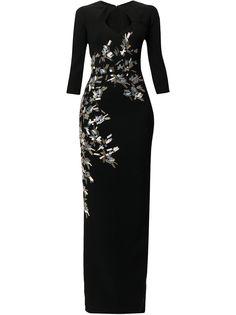 Saiid Kobeisy приталенное вечернее платье с пайетками