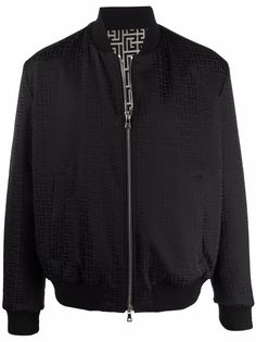 Balmain двусторонняя куртка-бомбер с монограммой