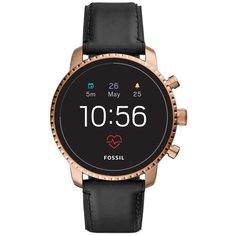 Умные часы FOSSIL Gen 4 Smartwatch Explorist HR (leather), black