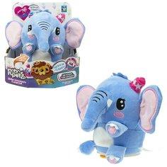 Интерактивная игрушка 1Toy Слон, плюшевый, повторюшка, 14 см, реагирует на прикосновение (Т19947)