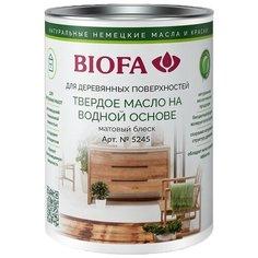 Масло Biofa 5245 Твердое масло на водной основе матовое, 5001 анжу, 1 л