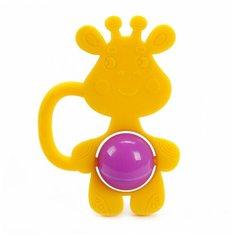 Прорезыватель-погремушка Жирафики Жирафик 939620 желтый/фиолетовый