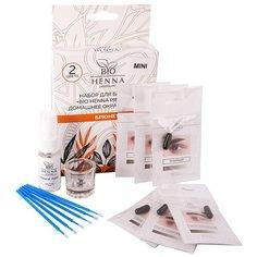 Bio Henna Набор для домашнего окрашивания бровей (мини) брюнет