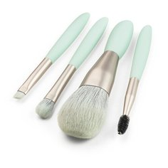 Zoreya Набор Кистей для макияжа в чехле голубой ZZ401, 4 шт