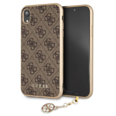 Чехол CG Mobile Guess 4G Charms collection Hard для iPhone XR, цвет Коричневый
