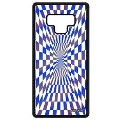 Чехол для самсунг Галакси Нот 9 французский дизайн Иллюзия шахмат Зеркало Эффект Utaupia