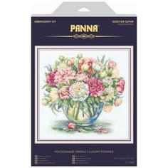 PANNA Набор для вышивания Золотая серия. Роскошные пионы 33 x 32 см (C-7063)