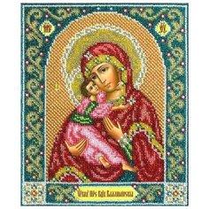 Паутинка Набор для вышивания бисером Пресвятая Богородица Владимирская 23 х 19,5 см (Б1014)