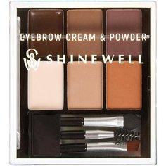 SHINEWELL Набор для стилизации бровей Eyebrow Cream & Powder 03