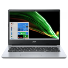 "Ноутбук Acer Aspire 3 A314-35-P3PW (Intel Pentium Silver N6000/14""/1920x1080/4GB/128GB SSD/Intel UHD Graphics/Windows 10 Home) NX.A7SER.00F, серебристый"