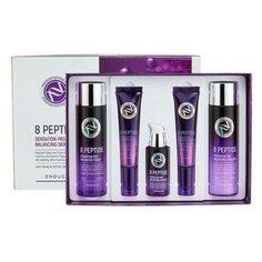 НАБОР СРЕДСТВ ПО УХОДУ ЗА КОЖЕЙ ЛИЦА С ПЕПТИДНЫМ КОМПЛЕКСОМ ENOUGH 8 Peptide Pro Balancing Skin Care 5Set
