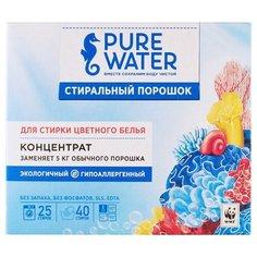 Стиральный порошок PURE WATER Для цветного белья концентрат, картонная пачка, 0.8 кг