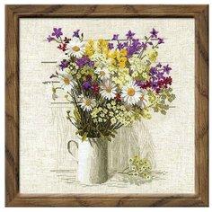 Риолис Набор для вышивания крестом Полевые цветы 45 х 45 (924)