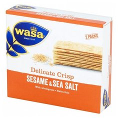 Хлебцы пшеничные Wasa тонкие цельнозерновые кунжут и морская соль 190 гр