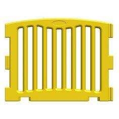 Панель модульного манежа усиленная прямая желтая, KisPis КисПис гп230314 Леко