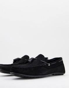 Черные замшевые туфли с переплетенными кисточками Silver Street-Черный цвет