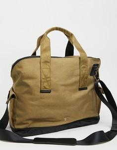 Светло-коричневая спортивная сумка из рогожки Farah-Коричневый цвет
