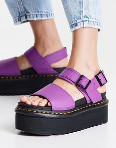 Фиолетовые сандалии Dr Martens Voss Quad-Фиолетовый цвет
