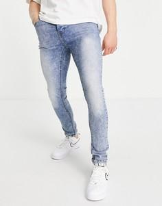 Голубые зауженные джинсы Good For Nothing-Голубой