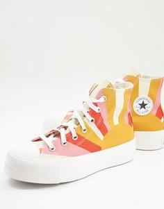 Оранжевые кроссовки с принтом восходящего солнца Converse Chuck Taylor-Оранжевый цвет