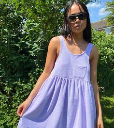Сиреневое летнее платье из махровой ткани COLLUSION-Фиолетовый цвет