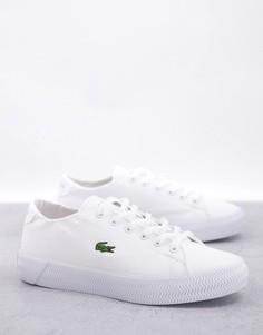 Бело-розовые кожаные кроссовки на плоской платформе Lacoste Gripshot-Белый