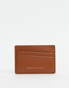 Коричневая кредитница с диагональным дизайном Smith & Canova-Коричневый цвет