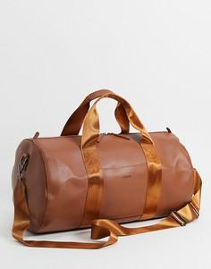 Спортивная сумка изискусственной кожи Fenton-Коричневый цвет