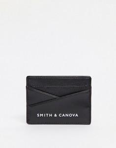 Кожаная кредитница Smith & Canova-Черный