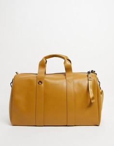 Кожаная спортивная сумка Smith & Canova-Коричневый цвет