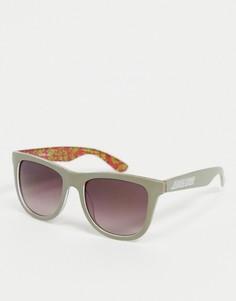 Серые классические солнцезащитные очки с разноцветной оправой Santa Cruz-Серый