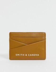 Кожаная кредитница Smith & Canova-Коричневый цвет