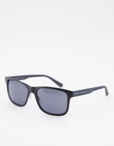 Солнцезащитные очки с квадратными линзами в стиле ретро French Connection-Черный