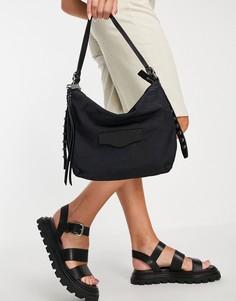 Черная сумка на плечо с ручкой сверху и сбоку Rebecca Minkoff-Черный цвет