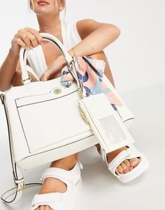 Кремовая сумка-портфель с визитницей Steve Madden Beijing-Белый