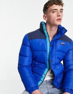 Утепленная нейлоновая куртка синего цвета Tommy Jeans-Голубой