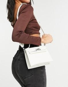 Белая сумка-портфель через плечо Ego-Белый ЭГО