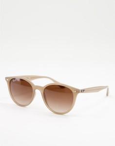 Круглые солнцезащитные очки унисекс в бежевой оправе Ray-Ban 0RB4305-Светло-бежевый цвет