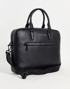 Черная сумка для ноутбука с логотипом Tommy Hilfiger Metro-Черный цвет