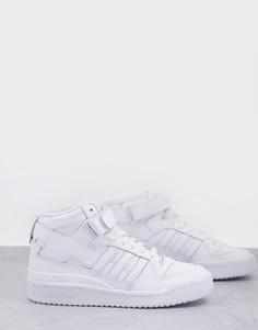 Белые кроссовки средней высоты adidas Originals Forum-Белый