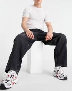 Широкие джинсы винтажного черного цвета ASOS DESIGN-Черный цвет