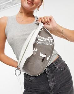 Белая сумка-кошелек на пояс с застежкой-молнией сверху Rebecca Minkoff-Серый