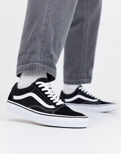 Черно-белые кроссовки Vans Old Skool-Черный цвет