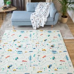 Детский игровой развивающий коврик Baby Nice двусторонний складной складной 180х200х1 см