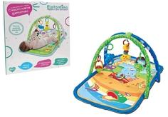 Детский мягкий коврик Elefantino, 4 игрушки-погремушки, IT106283