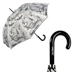Зонт женский Jean Paul Gaultier 1312-LA Ecritues Blanc