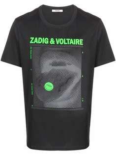 Zadig&Voltaire футболка Ted Happy с графичным принтом