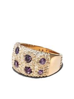 Bleue Burnham кольцо Bouquet из желтого золота с сапфиром