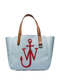 JW Anderson сумка-тоут с вышитым логотипом