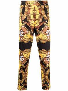 Moschino спортивные брюки с принтом Teddy